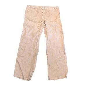 LONDONJEAN 100% Linen Drawstring Pants